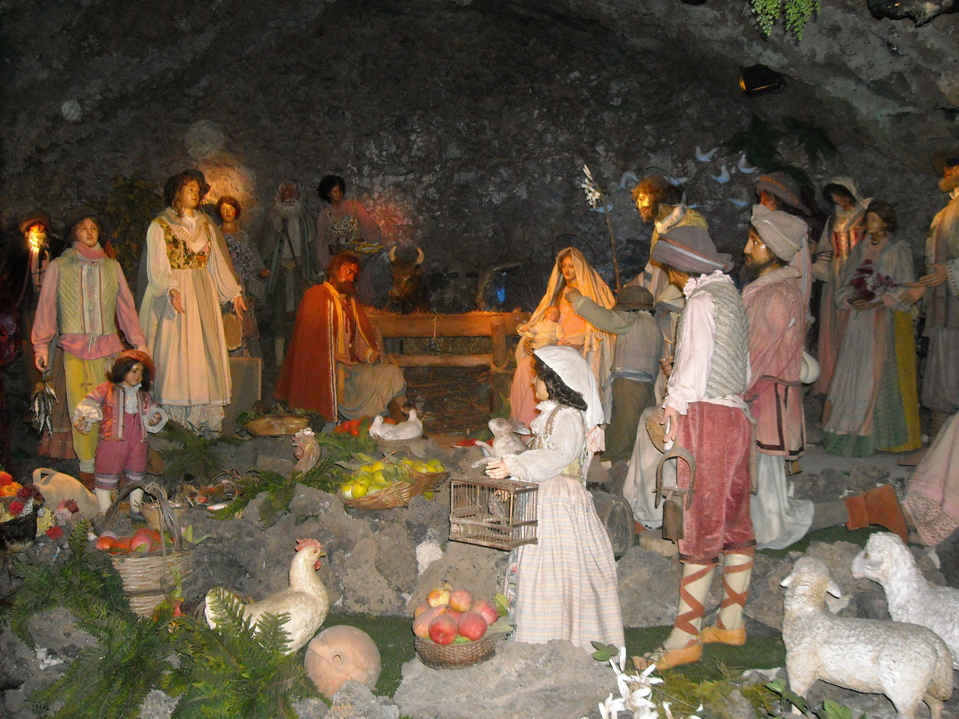 Life-sized 18th c Manger Scene, venerated for centuries at Acireale, Sicily (Photo by Br. Alexis Bugnolo)