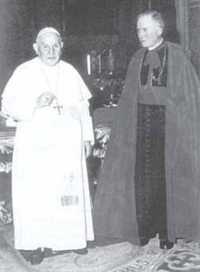 Pope John XXIII and Archbishop of Lefebrve:  On On June 5, 1960, His Holiness appointed the Archbishop to the Preparatory Committe for Vatican II