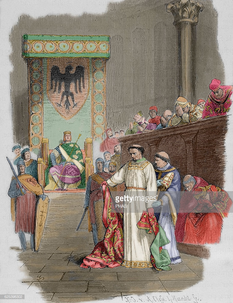 henry-iii-called-the-black-holy-roman-emperor-synod-of-sutri-by-a-picture-id625398302