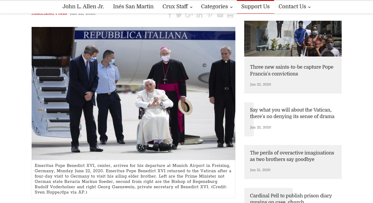 Screenshot_2020-06-22 Benedict XVI back at Vatican after German visit to brother